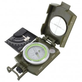 ROBESBON Kompas Militer dengan Clinometer - ZH118 - Green - 2