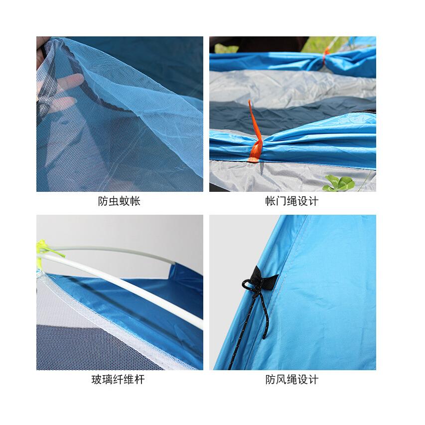 Tenda Camping Anti Panas UV Outdoor 3-4 Orang - Orange - 6 .