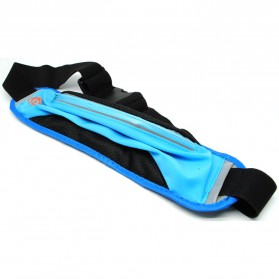 Tas Pinggang Olahraga Lycra Waist Bag - Blue