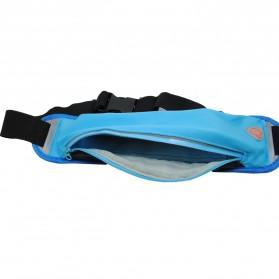 Tas Pinggang Olahraga Lycra Waist Bag - Blue - 2