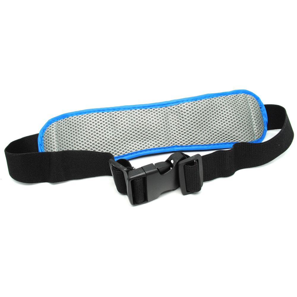 Tas Pinggang Olahraga Lycra Waist Bag Blue Multifunction Sports Belt With Flat Pocket Ze Wp700 4