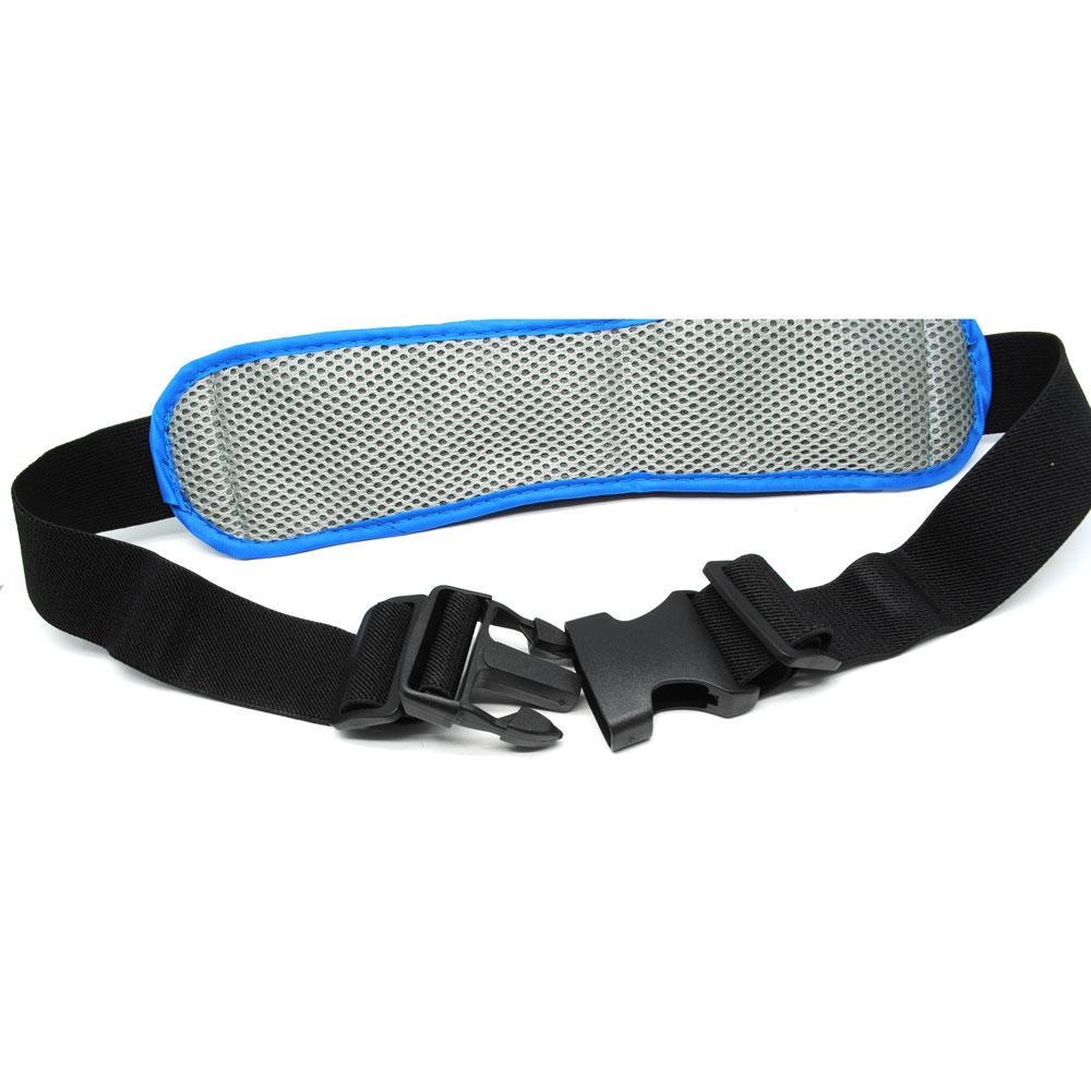 Tas Pinggang Olahraga Lycra Waist Bag Blue Multifunction Sports Belt With Flat Pocket Ze Wp700 5