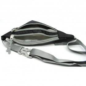 Tas Pinggang Olahraga Waist Bag - ZE-WPC - Black - 3