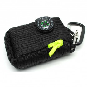 Kit Perlengkapan Camping Survival Kit Lengkap - Black