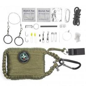 Kit Perlengkapan Camping Survival Kit Lengkap - Green