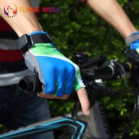 Sarung Tangan Half Finger Sepeda dengan Lampu LED - Mix Color - 2