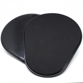 Mat Push Up Mini Exercise Sliding Disc - Black
