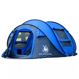 HUI LINGYANG Tenda Camping Windproof Waterproof - S-T414 - Blue