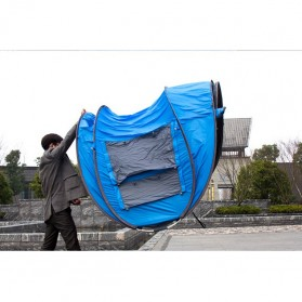 HUI LINGYANG Tenda Camping Windproof Waterproof - S-T414 - Blue - 3