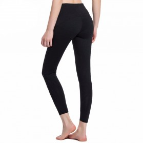 Legging Olahraga Gym Yoga Wanita Size L - Black - 2