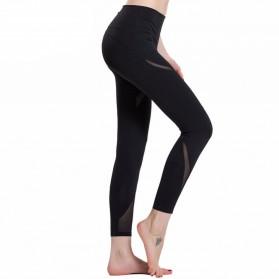 Legging Olahraga Gym Yoga Wanita Size L - Black - 4