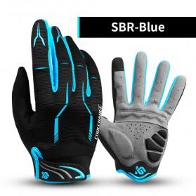 CoolChange Sarung Tangan Sepeda SBR Pad - Size M - Blue