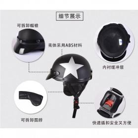 Helm Catok Retro Motor Klasik - Model Star - Black - 4