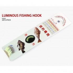 Dagezi Kail Pancing Luminous Glow in The Dark Fishing Hook 30 PCS Size 12 - 2