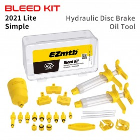 EZmtb Pro Perlengkapan Maintenance Bicycle Modifying Master Bleed Kit Lite Hydraulic dan Gear Sepeda - P04BE - Yellow
