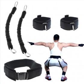 Tali Resistance Band Fitness Basket Endurance Training Tool - Black