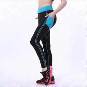 Legging Gym Fitness Wanita Size L - Black White - 4