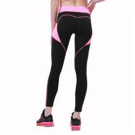 Legging Gym Fitness Wanita Size L - Black White - 5