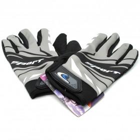 Sarung Tangan Olahraga Motor Full Finger - KP-N847 - Black/Gray - 1