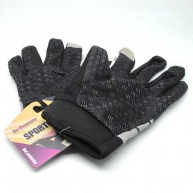 Sarung Tangan Olahraga Motor Full Finger - KP-N847 - Black/Gray - 2