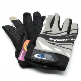 Sarung Tangan Olahraga Motor Full Finger - KP-N847 - Black/Gray - 3