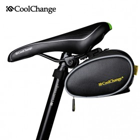 CoolChange Tas Jok Sepeda Saddle Safety Bag - Black