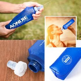 Botol Minum Lipat Camping Mountaineering Drinking Water Bag 250ml - Blue - 3