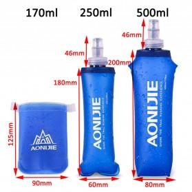Botol Minum Lipat Camping Mountaineering Drinking Water Bag 250ml - Blue - 5