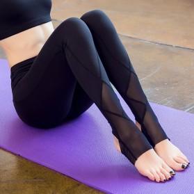 Celana Legging Gym Fitness Yoga Wanita - Size M - Black - 2