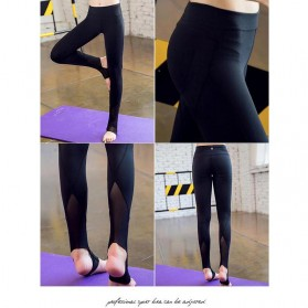 Celana Legging Gym Fitness Yoga Wanita - Size M - Black - 3