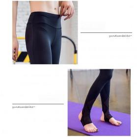 Celana Legging Gym Fitness Yoga Wanita - Size M - Black - 5