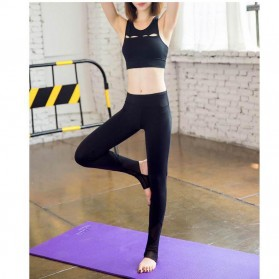 Celana Legging Gym Fitness Yoga Wanita - Size M - Black - 7