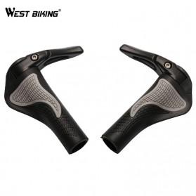 TaffSPORT West Biking Gagang Sepeda Rubber Ergonomic Grip MTB Handlebar - BT1001 - Black - 2