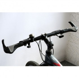 TaffSPORT West Biking Gagang Sepeda Rubber Ergonomic Grip MTB Handlebar - BT1001 - Black - 4
