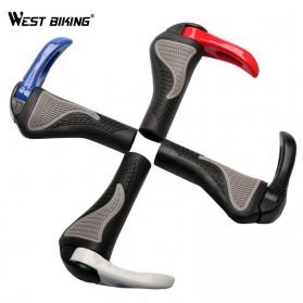 TaffSPORT West Biking Gagang Sepeda Rubber Ergonomic Grip MTB Handlebar - BT1001 - Black - 6