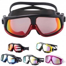 JOUYOU Kacamata Renang Diving Snorkling Large Frame Anti Fog UV Protection -  E0735-01 - Black/Red - 4