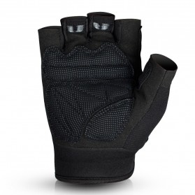JIUSUYI Sarung Tangan Tactical Half Finger Sporting Gloves Size L - A6 - Black - 2