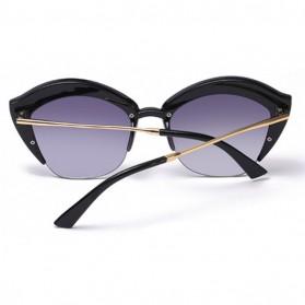 Kacamata Wanita Model Cat Eye Anti UV - Black - 2