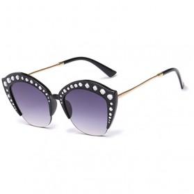 Kacamata Wanita Model Cat Eye Anti UV - Black - 3
