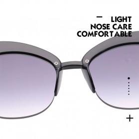 Kacamata Wanita Model Cat Eye Anti UV - Black - 5