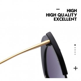 Kacamata Wanita Model Cat Eye Anti UV - Black - 6