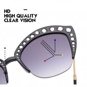 Kacamata Wanita Model Cat Eye Anti UV - Black - 7