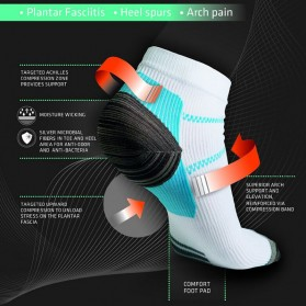 Kaos Kaki Anti Fatigue Plantar Compression Socks - Blue - 6