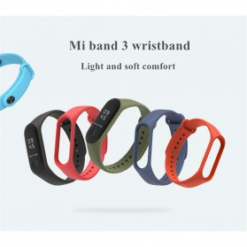 Silicone Strap Watchband untuk Xiaomi Mi Band 3 (Replika 1:1) - Black - 2