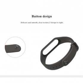 Silicone Strap Watchband untuk Xiaomi Mi Band 3 (Replika 1:1) - Black - 6