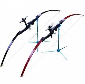 CDRIC Busur Panah Straight Archery Short Bow - JH401 - Black - 3