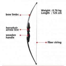 Busur Panah Powerful Recurve Archery Bow 40 LBS - 36215 - Black - 3