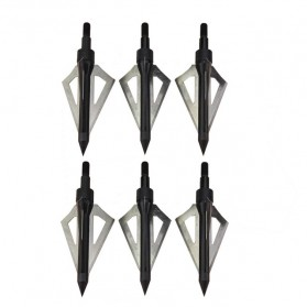 Kepala Anak Panah Hunting Arrow Head Aluminium Blade 6 PCS - 831CD - Black
