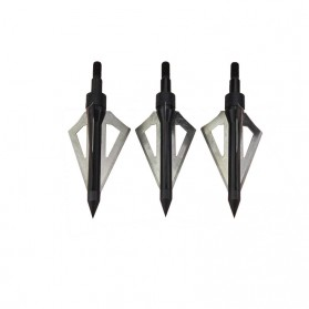 Kepala Anak Panah Hunting Arrow Head Aluminium Blade 6 PCS - 831CD - Black - 4
