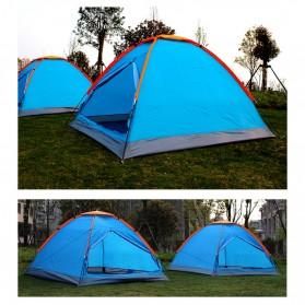 TaffSPORT Tenda Camping Outdoor Tent Single Layer 3-4 Orang - AA12043 - Blue